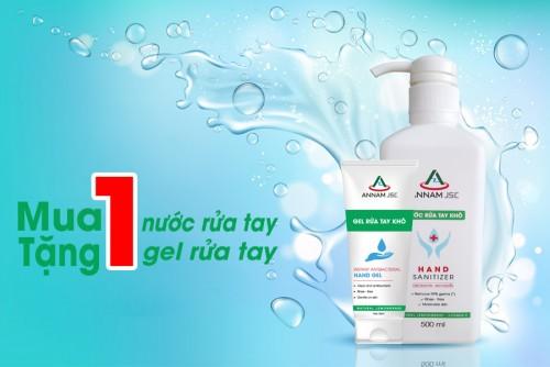 Dung dịch-gel rửa tay khô ANNAM JSC ưu đãi mua 1 tặng 1